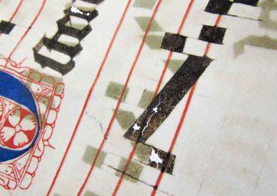 Conservatie en inktvraatbehandeling van St Baafs Graduale